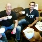 Coffe and fun with chris ducker and pat flynn at the agents of change conference