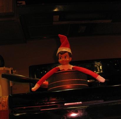 Elf on the Shelf on Fire