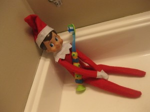 Elf on the Shelf Steals Toothbrush