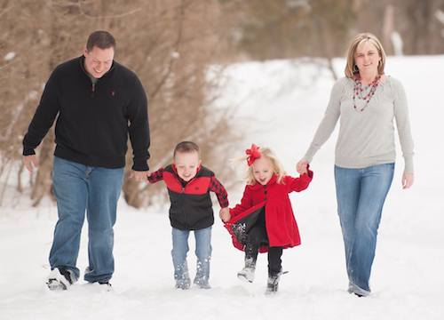 Shane and Jocelyn SNOW WITH KIDS