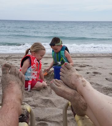 Building sand castles and memories