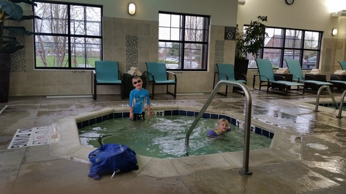 Midweek trip to a hotel for some fun in the hot tub
