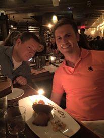 Hanging with Josh on his birthday