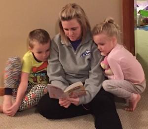 Jocelyn Reading to the Kids