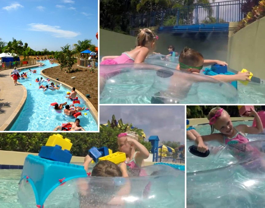 lazy river collage