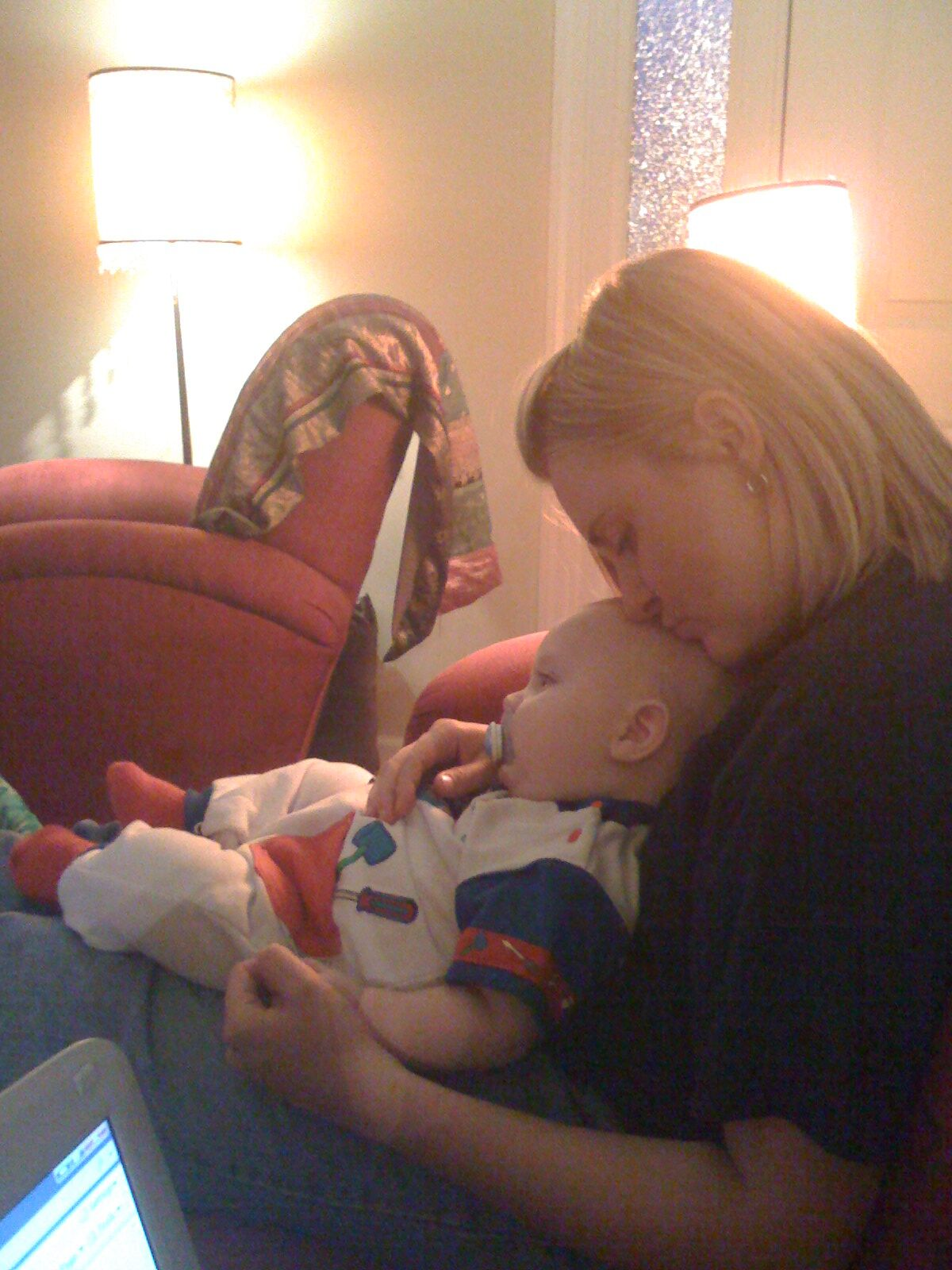 Jocelyn Sams With Baby Isaac