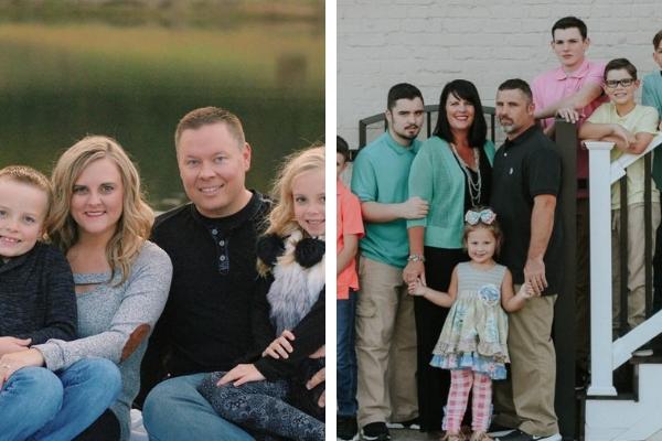Jocelyn and Shane Sams and Gina White Family